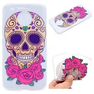 Skeleton Flower Super Clear Soft TPU Back Cover for Motorola Moto G5