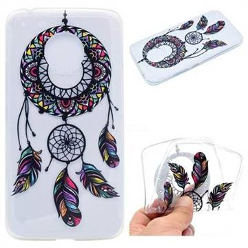 Feather Black Wind Chimes Super Clear Soft TPU Back Cover for Motorola Moto G5