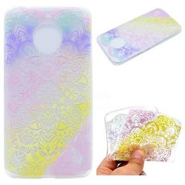 Mandala Rainbow Flower Super Clear Soft TPU Back Cover for Motorola Moto G5