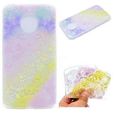 Mandala Rainbow Flower Super Clear Soft TPU Back Cover for Motorola Moto G5 Plus