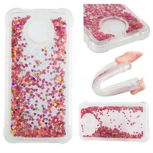 Dynamic Liquid Glitter Sand Quicksand TPU Case for Motorola Moto G5S - Rose Gold Love Heart