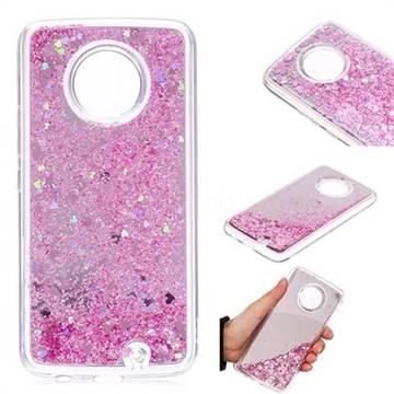 Glitter Sand Mirror Quicksand Dynamic Liquid Star TPU Case for Motorola Moto X4 (4th gen.) - Cherry Pink