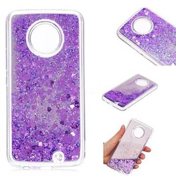 Glitter Sand Mirror Quicksand Dynamic Liquid Star TPU Case for Motorola Moto X4 (4th gen.) - Purple