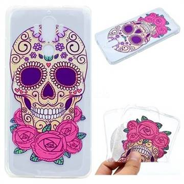 Skeleton Flower Super Clear Soft TPU Back Cover for Huawei Mate9 Mate 9