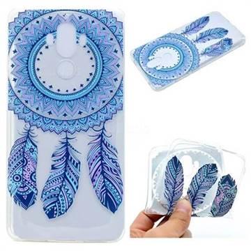 Blue Feather Campanula Super Clear Soft TPU Back Cover for Huawei Mate9 Mate 9