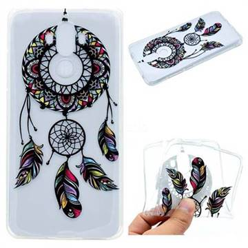Feather Black Wind Chimes Super Clear Soft TPU Back Cover for Huawei Mate9 Mate 9
