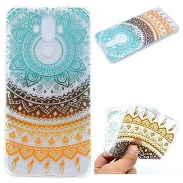 Tribe Flower Super Clear Soft TPU Back Cover for Huawei Mate9 Mate 9