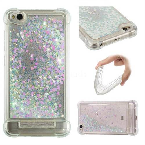 Dynamic Liquid Glitter Sand Quicksand Star TPU Case for Xiaomi Redmi 4A - Pink