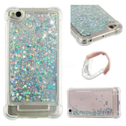 Dynamic Liquid Glitter Sand Quicksand Star TPU Case for Xiaomi Redmi 4A - Silver