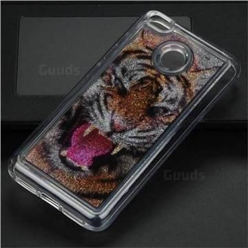 Tiger Glassy Glitter Quicksand Dynamic Liquid Soft Phone Case for Xiaomi Redmi 4 (4X)