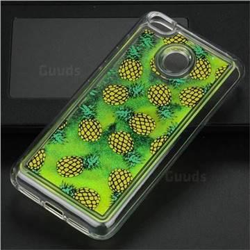 Pineapple Glassy Glitter Quicksand Dynamic Liquid Soft Phone Case for Xiaomi Redmi 4 (4X)