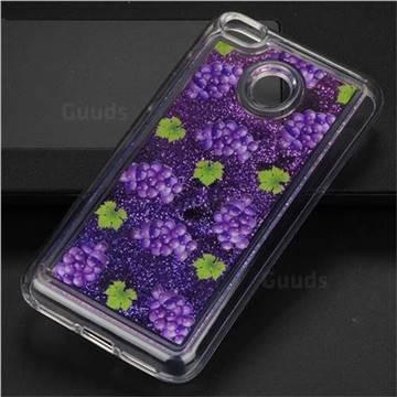 Purple Grape Glassy Glitter Quicksand Dynamic Liquid Soft Phone Case for Xiaomi Redmi 4 (4X)