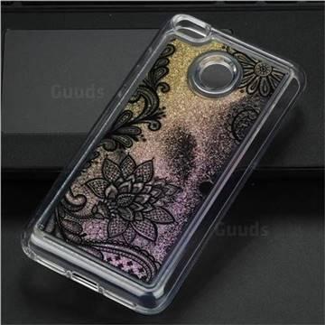 Diagonal Lace Glassy Glitter Quicksand Dynamic Liquid Soft Phone Case for Xiaomi Redmi 4 (4X)