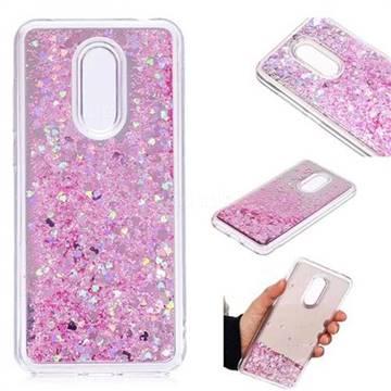 Glitter Sand Mirror Quicksand Dynamic Liquid Star TPU Case for Mi Xiaomi Redmi 5 Plus - Cherry Pink