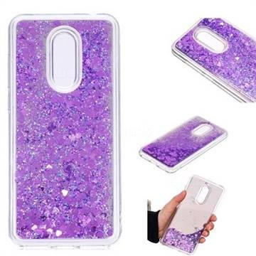 Glitter Sand Mirror Quicksand Dynamic Liquid Star TPU Case for Mi Xiaomi Redmi 5 Plus - Purple