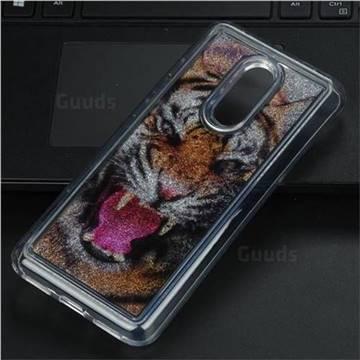 Tiger Glassy Glitter Quicksand Dynamic Liquid Soft Phone Case for Mi Xiaomi Redmi 5 Plus