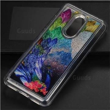 Phoenix Glassy Glitter Quicksand Dynamic Liquid Soft Phone Case for Mi Xiaomi Redmi 5 Plus