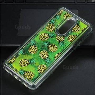Pineapple Glassy Glitter Quicksand Dynamic Liquid Soft Phone Case for Mi Xiaomi Redmi 5 Plus