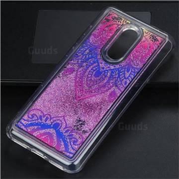 Blue and White Glassy Glitter Quicksand Dynamic Liquid Soft Phone Case for Mi Xiaomi Redmi 5 Plus