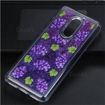 Purple Grape Glassy Glitter Quicksand Dynamic Liquid Soft Phone Case for Mi Xiaomi Redmi 5 Plus