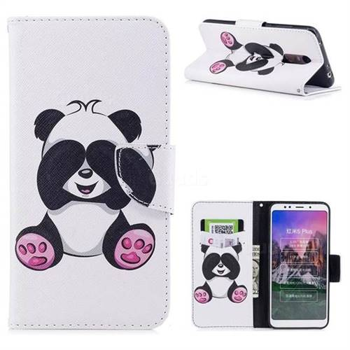 Lovely Panda Leather Wallet Case for Mi Xiaomi Redmi 5 Plus
