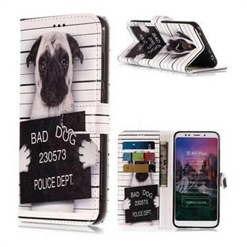 Bad Dog Police Dept PU Leather Wallet Phone Case for Mi Xiaomi Redmi 5 Plus