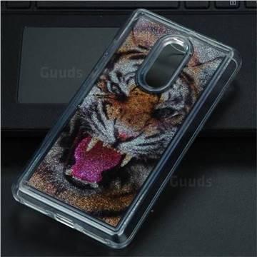 Tiger Glassy Glitter Quicksand Dynamic Liquid Soft Phone Case for Xiaomi Redmi Note 4 Red Mi Note4
