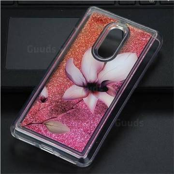 Lotus Glassy Glitter Quicksand Dynamic Liquid Soft Phone Case for Xiaomi Redmi Note 4 Red Mi Note4