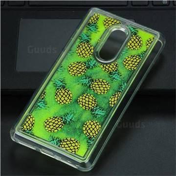 Pineapple Glassy Glitter Quicksand Dynamic Liquid Soft Phone Case for Xiaomi Redmi Note 4 Red Mi Note4