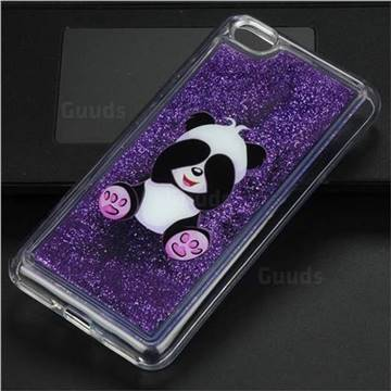 Naughty Panda Glassy Glitter Quicksand Dynamic Liquid Soft Phone Case for Xiaomi Redmi Note 5A