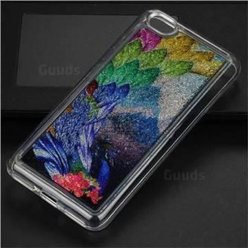 Phoenix Glassy Glitter Quicksand Dynamic Liquid Soft Phone Case for Xiaomi Redmi Note 5A