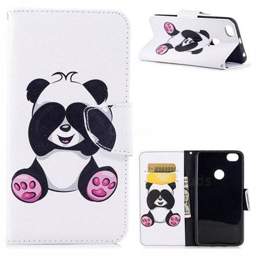 Lovely Panda Leather Wallet Case for Xiaomi Redmi Note 5A