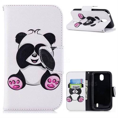 Lovely Panda Leather Wallet Case for Nokia 1