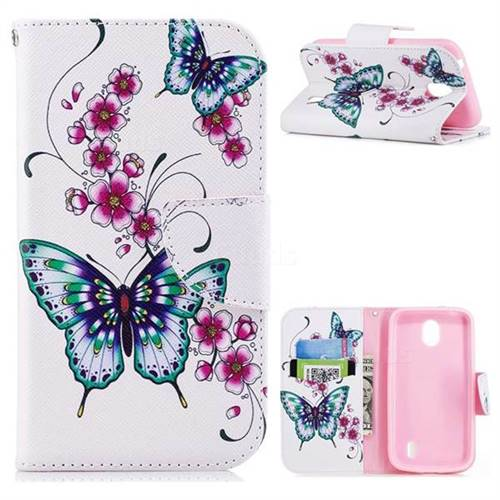 Peach Butterfly Leather Wallet Case for Nokia 1