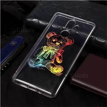 Cubs Bear Pattern Bright Color Laser Soft TPU Case for Nokia 7 Plus