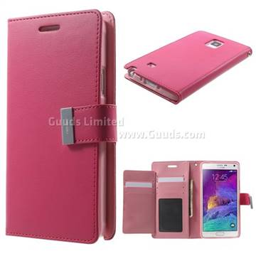 Mercury Rich Diary Leather Flip Cover For Samsung Galaxy Note 4 N910
