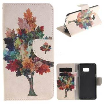 Colored Tree PU Leather Wallet Case for Samsung Galaxy Note 7
