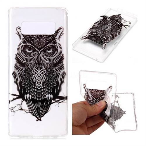 Staring Owl Super Clear Soft TPU Back Cover for Samsung Galaxy Note 8