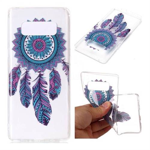 Blue Wind Chimes Super Clear Soft TPU Back Cover for Samsung Galaxy Note 8