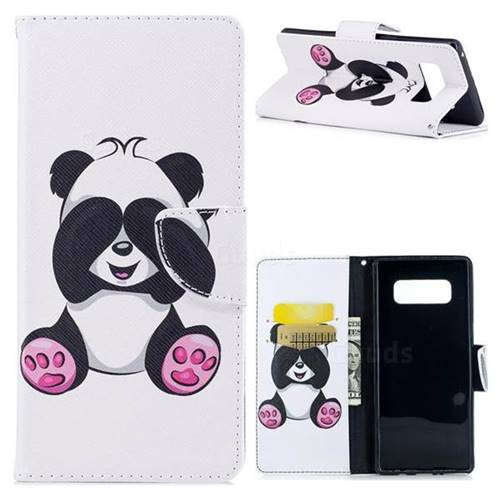 Lovely Panda Leather Wallet Case for Samsung Galaxy Note 8