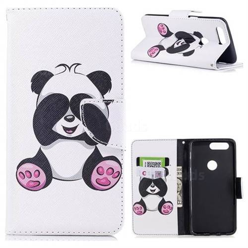 Lovely Panda Leather Wallet Case for OnePlus 5T