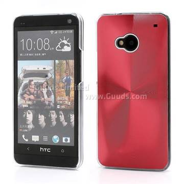 CD Veins Metal Aluminium Hard Case for HTC One M7 801e - Red