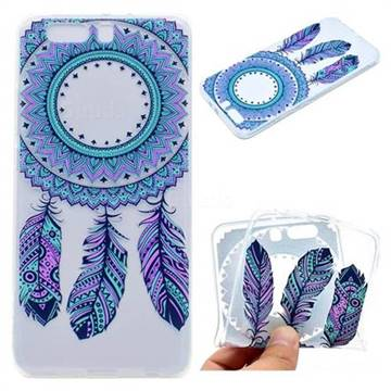Blue Feather Campanula Super Clear Soft TPU Back Cover for Huawei P10