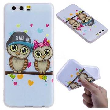 Couple Owls 3D Relief Matte Soft TPU Back Cover for Huawei P10