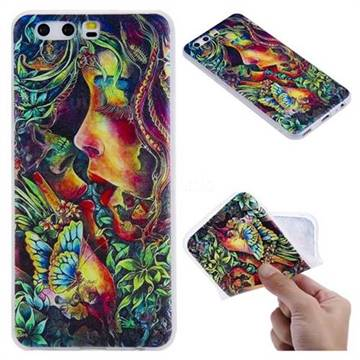 Butterfly Kiss 3D Relief Matte Soft TPU Back Cover for Huawei P10