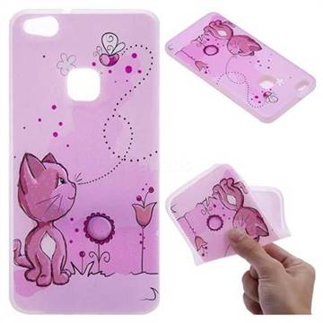 Cat and Bee 3D Relief Matte Soft TPU Back Cover for Huawei P10 Lite P10Lite