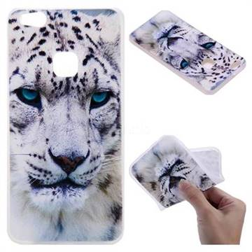White Leopard 3D Relief Matte Soft TPU Back Cover for Huawei P10 Lite P10Lite