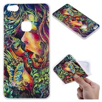 Butterfly Kiss 3D Relief Matte Soft TPU Back Cover for Huawei P10 Lite P10Lite