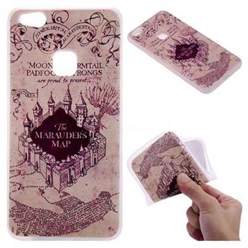 Castle The Marauders Map 3D Relief Matte Soft TPU Back Cover for Huawei P10 Lite P10Lite