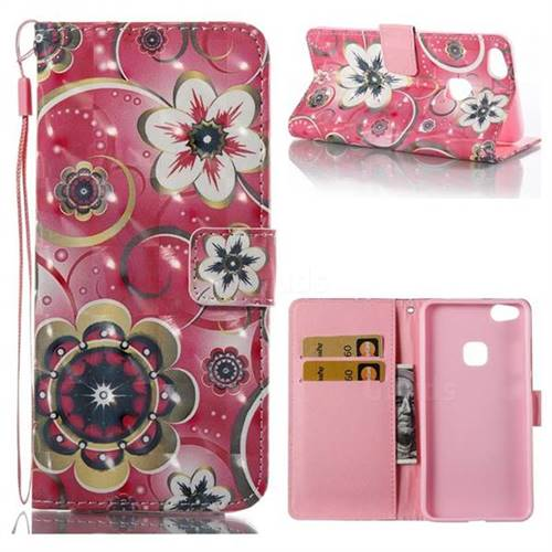 Tulip Flower 3D Painted Leather Wallet Case for Huawei P10 Lite P10Lite